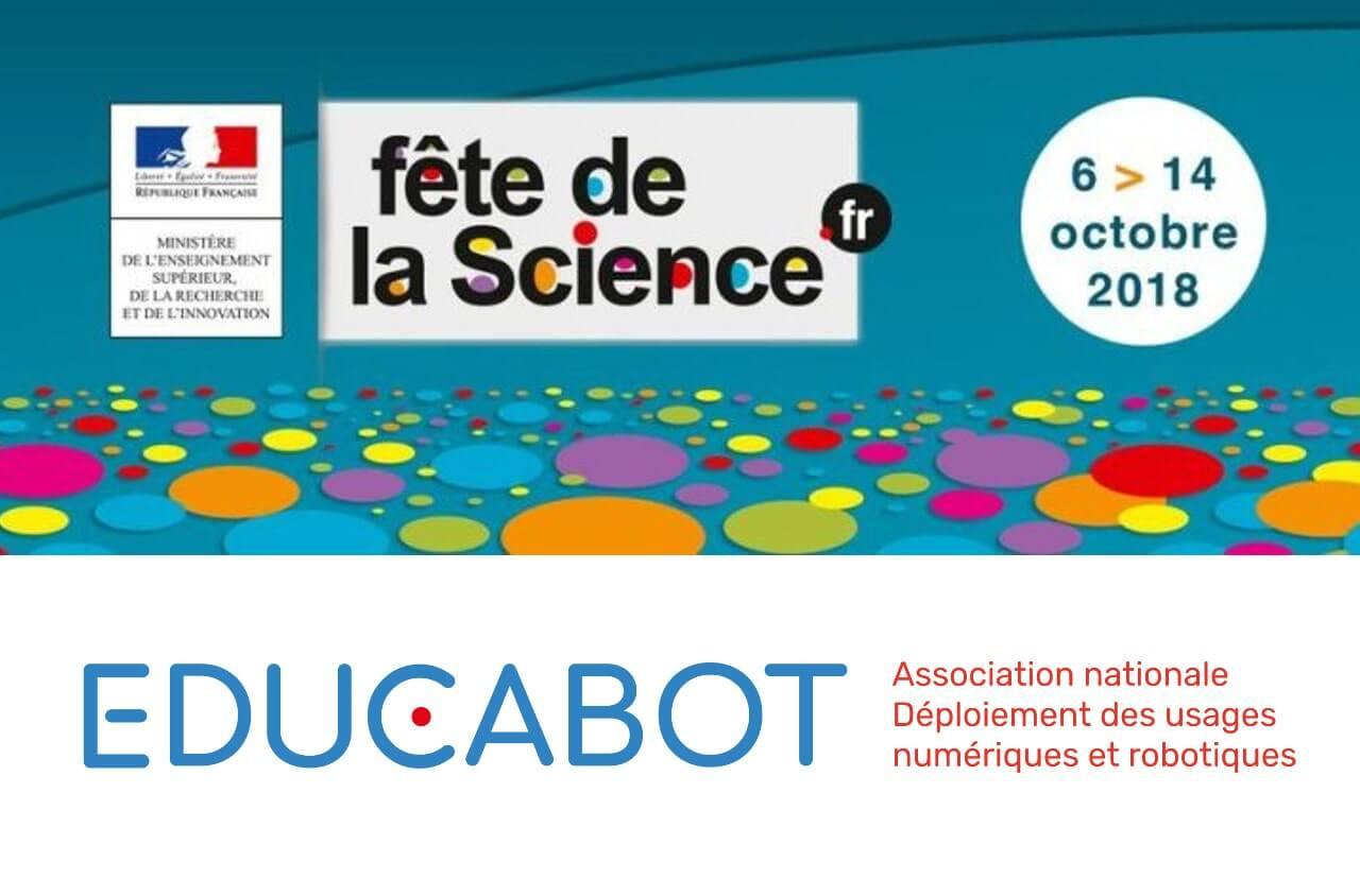 Educabot participe à la Fête de la science à la Villette